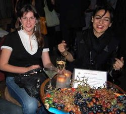 """""""Frozen River"""" producer Molly Conners and friend, actress Sherin Shaker. (Credit: Frank Lovece)"""