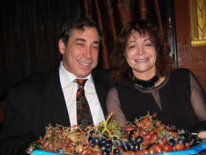 Porducer Abe Shainberg and WomenFilmNet's Adriana Shaw. (Credit: Frank Lovece)