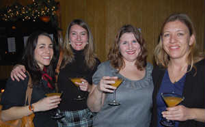 HBO's Joanne Firneno and Cristin Curry with Zeitgeist's Shannon Attaway and Nadja Tennstedt. (Credit: Frank Lovece)