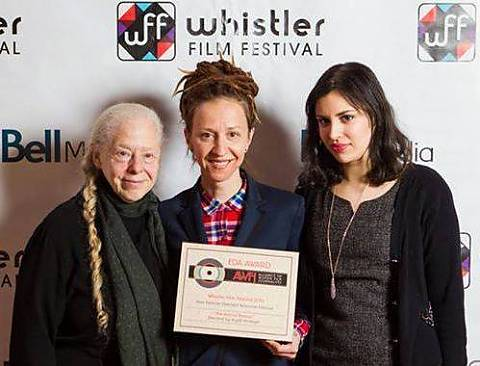 Jennifer Merin, Ingrid Veninger and Katherine Brodsky: EDA Awards @ Whistler Film Festival